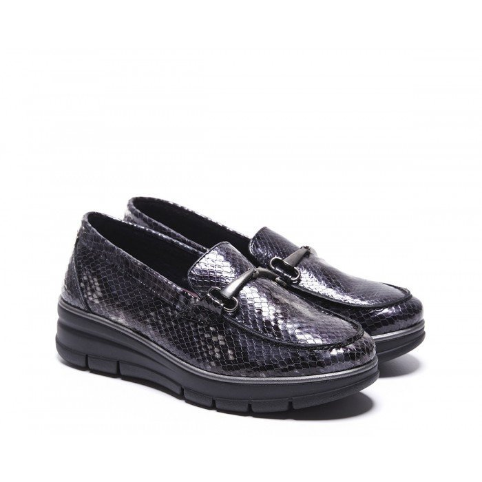 Mocasines Mujer 24 Hrs 24697 Gris Oscuro