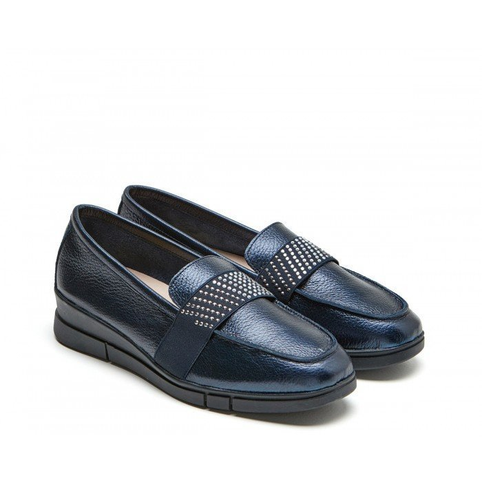 Zapatos Mujer 24 Hrs 24816 Metalizado Marino