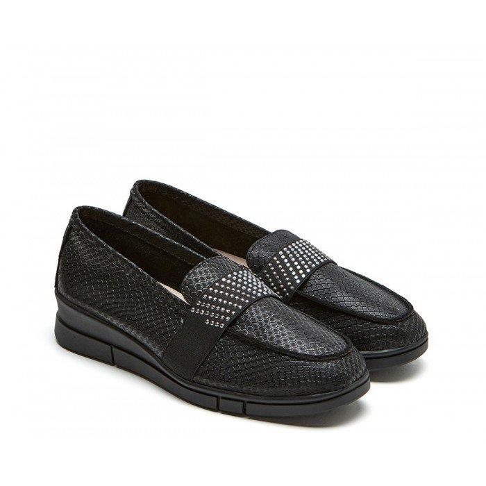 Zapatos Mujer 24 Hrs 24816 Serpiente Negro
