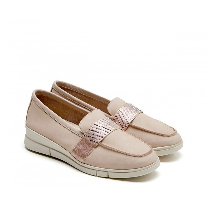 Zapatos Mujer 24 Hrs 24816 Nobuck Nude