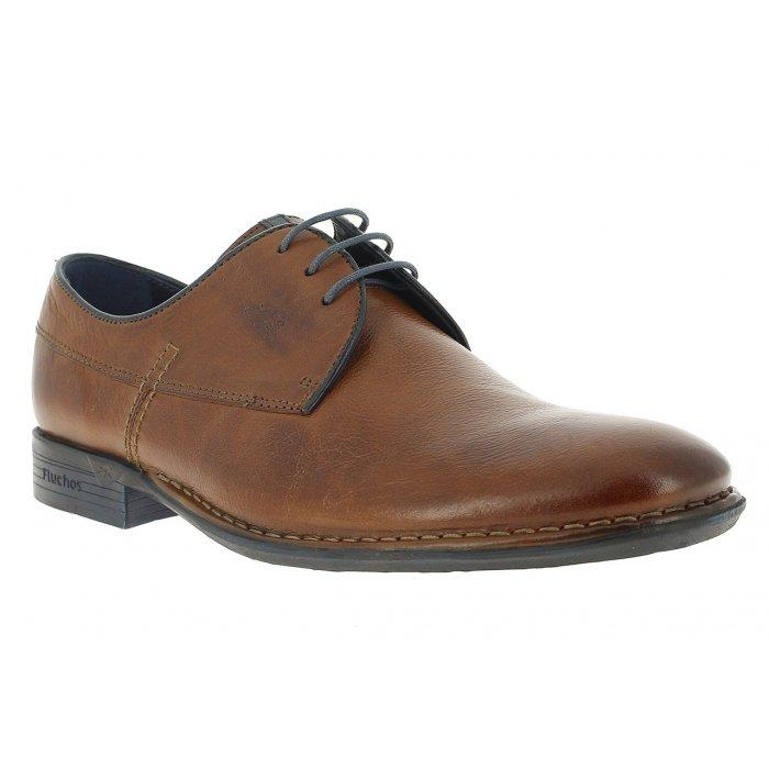 fc1f4b7e Zapatos de hombre Fluchos color cuero con suela de goma línea Alonso.