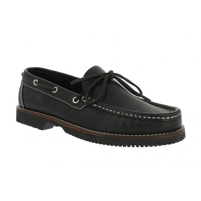 Zapatos Hombre Náuticos Fluchos Tanvi 156 Engrasado Negro