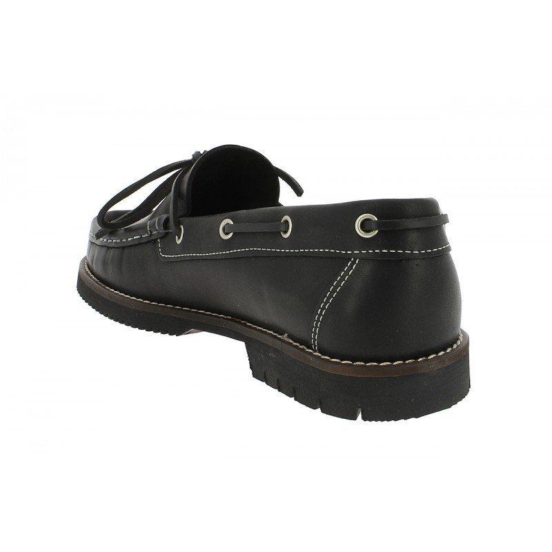 5fc1400f Zapatos de hombre Fluchos de piel engrasada color negro línea Corzo.