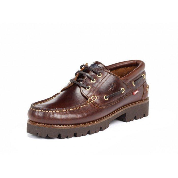Zapatos Náuticos Hombre Fluchos Richfield F0046 Pull Marrón Castaño
