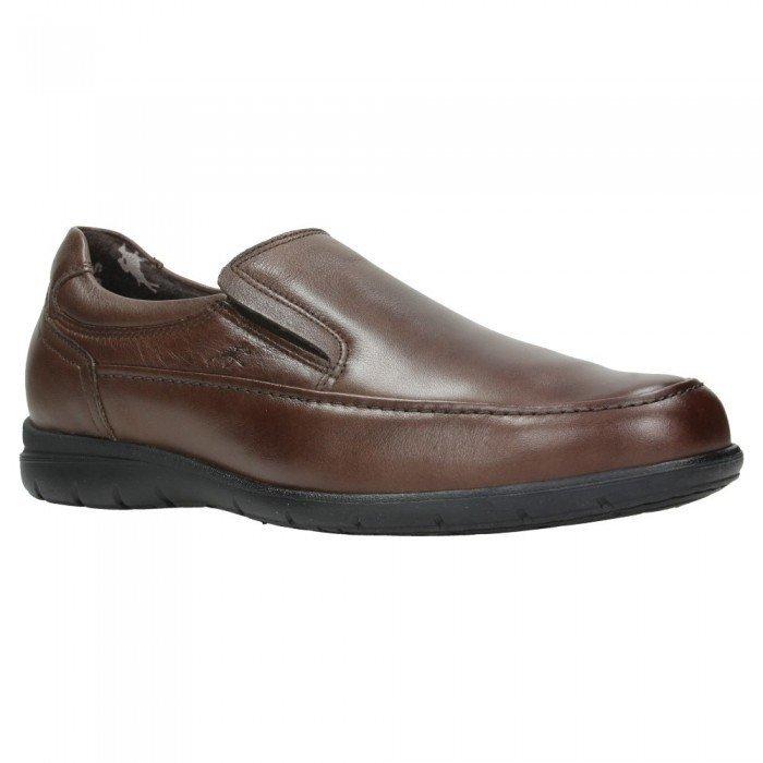 534545e8 Zapatos de hombre Fluchos Luca 8499 de piel Ave color marrón café.