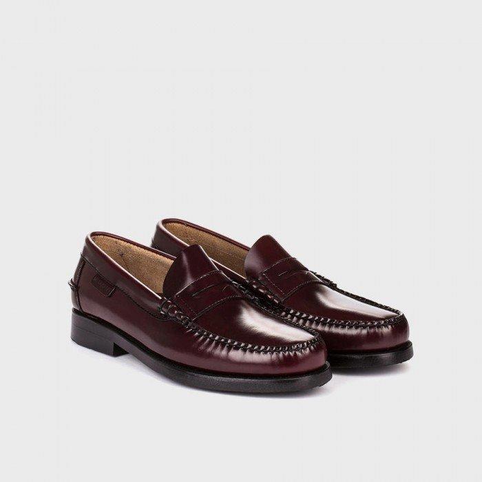 Zapatos Mocasines Hombre Martinelli Alcalá A182-0011AYM Burdeos