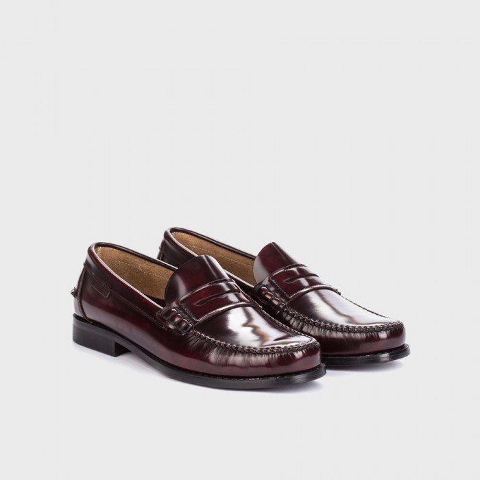 Zapatos Mocasines Hombre Martinelli Alcalá A101-0011AYM Burdeos.