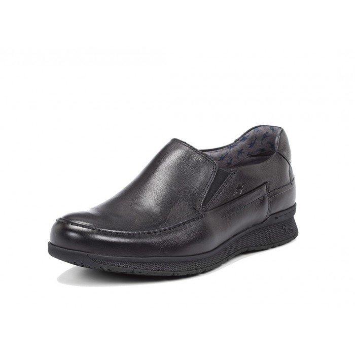 Zapatos Mocasines Hombre Fluchos Tauro 9821 Negro