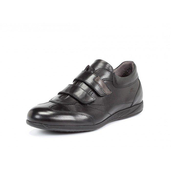 Piel Zapatos Fluchos Hombre Negro Línea Ulises Oferta En Deportivos qt14ta df4e9ef70