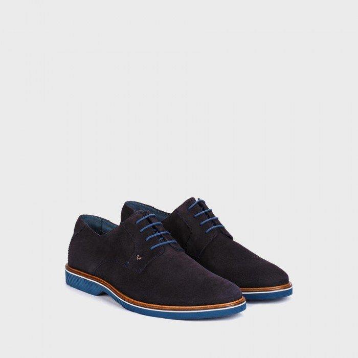 Zapatos blucher hombre Martinelli 1204-1153V Azul.