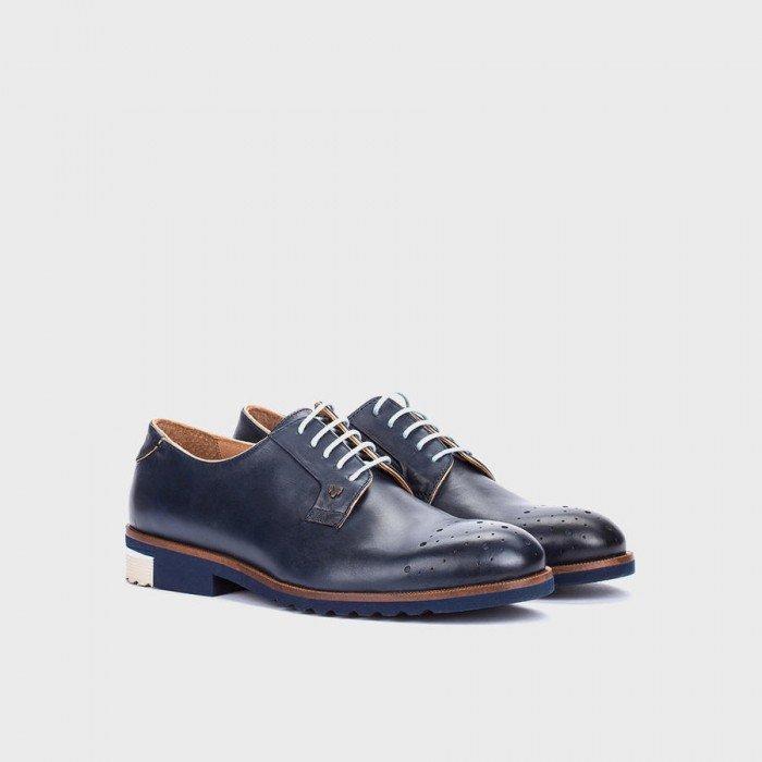 Zapatos Blucher Hombre Martinelli 1351-0358PYP Azul