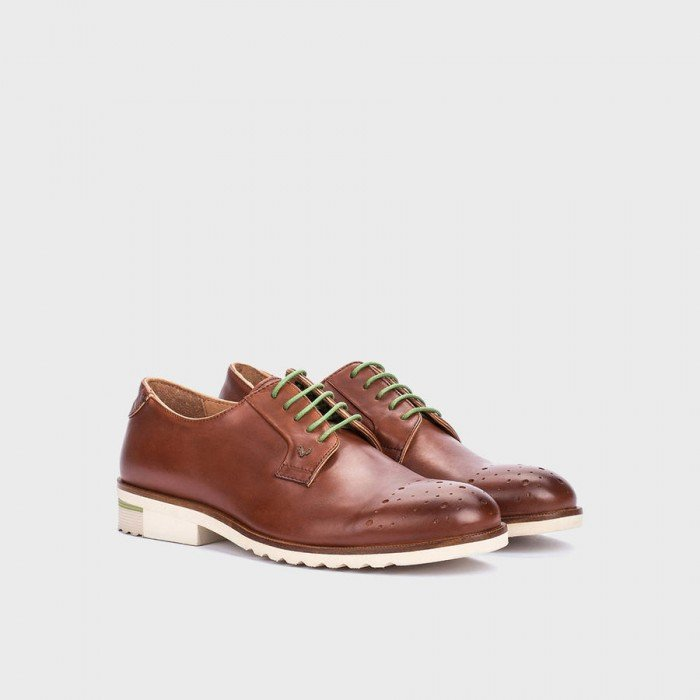 Zapatos blucher hombre Martinelli Dario 1351-0358PYP Cuero