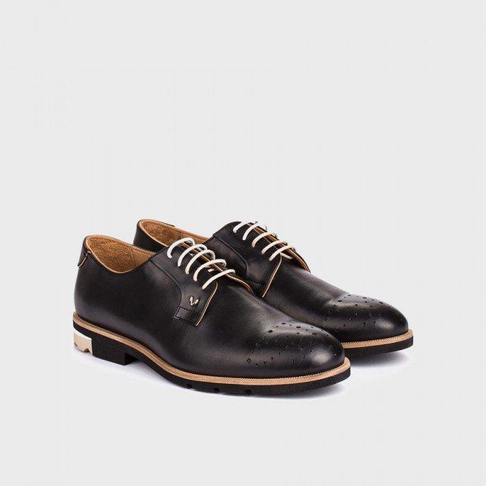 Zapatos blucher hombre Martinelli Dario 1351-0358T Negro